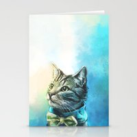 kitty Stationery Cards featuring Handsome Cat by Alice X. Zhang