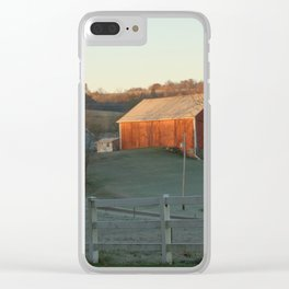 Amish Country Barn Clear iPhone Case