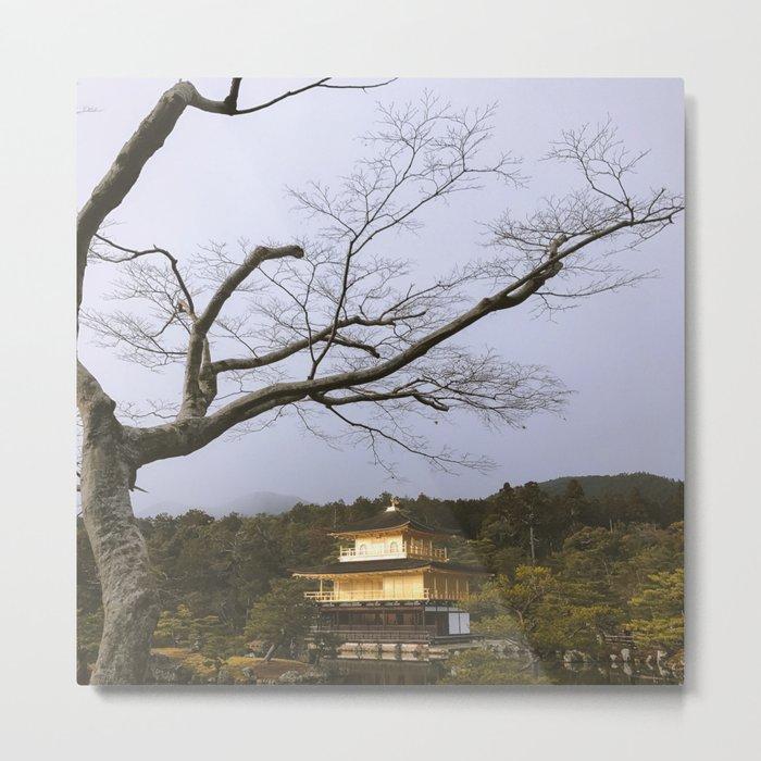Golden Pavillion in Kyoto, Japan Metal Print
