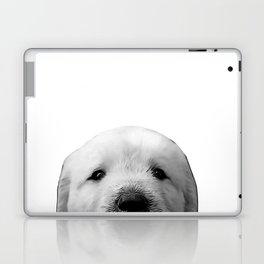 golden labrador puppy b&w Laptop & iPad Skin