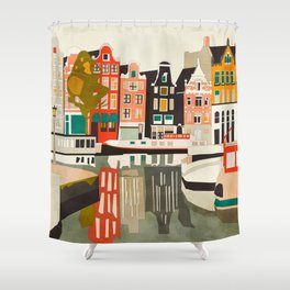 shapes houses of Amsterdam Shower Curtain