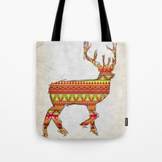 Deer Navajos - christmas pattern Tote Bag