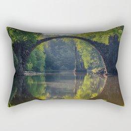 bridge in the nature Rectangular Pillow