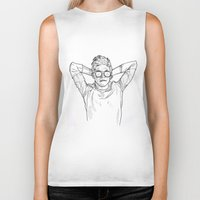 niall Biker Tanks featuring Niall Horan by Cécile Pellerin