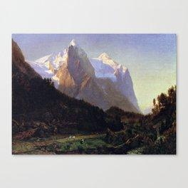 Worthington Whittredge The Wetterhorn Canvas Print