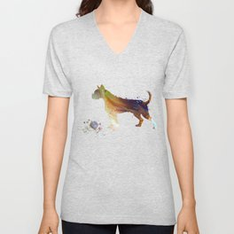 Boxer Dog Unisex V-Neck