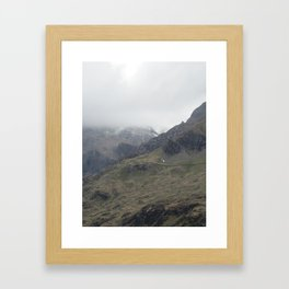 There be Mountains Framed Art Print
