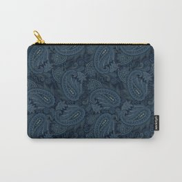 Meredith Paisley - Navy Carry-All Pouch