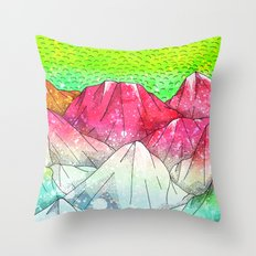 The watermelon hills Throw Pillow