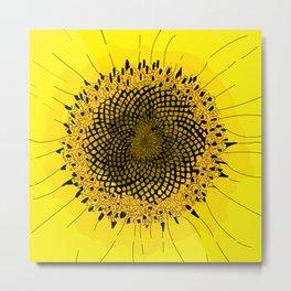 Sunflower: Fibonacci Sequence Metal Print