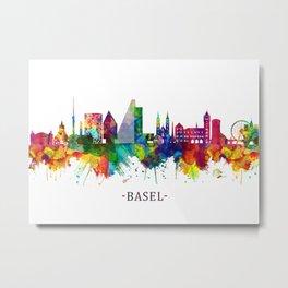 Basel Switzerland Skyline Metal Print