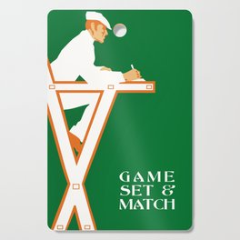 Game set and match retro tennis referee Cutting Board
