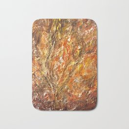 Textured Acrylic Painting By Annette Forlenza Bath Mat