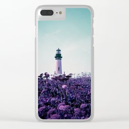 Yaquina Head Lighthouse on Purple Lomo Film - Holga Photograph Clear iPhone Case