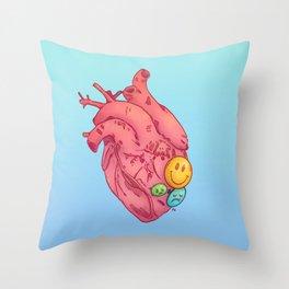 SMILEY HEART Throw Pillow
