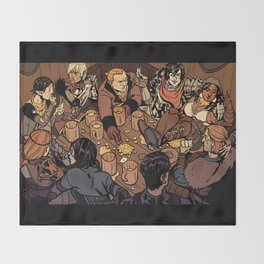 At the Hanged Man Throw Blanket