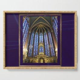 cathedral paris divine violet Serving Tray