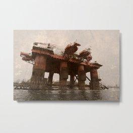 Safe Scandinavia oil rig 2 Metal Print