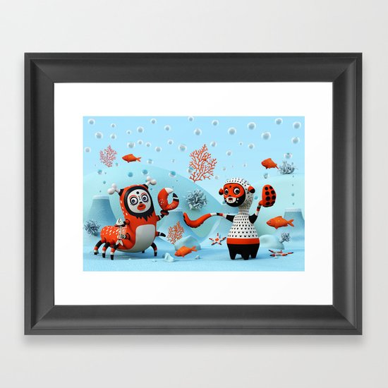 Dead Fish Framed Art Print