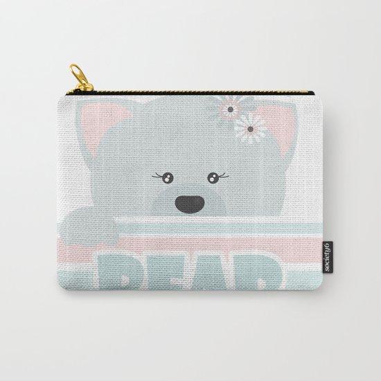 A curious bear . Carry-All Pouch