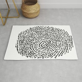 Animal Fingerprint Rug