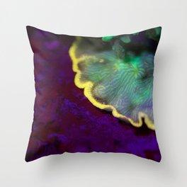 Fluorescent coral skirt Throw Pillow