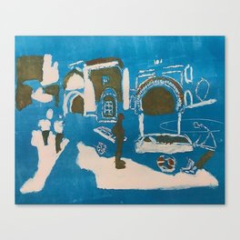tangier monotype Canvas Print