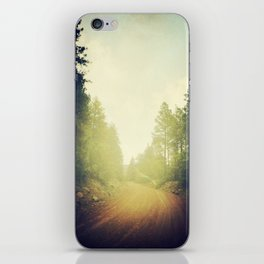 Follow the road less traveled iPhone Skin