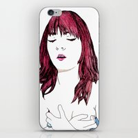 redhead iPhone & iPod Skins featuring Redhead by Margret Stewart