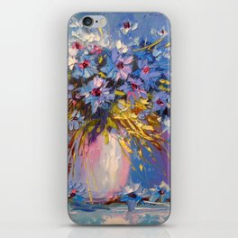 Bouquet of cornflowers iPhone Skin