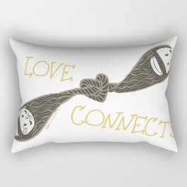 Love Connects Rectangular Pillow