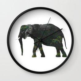 Elephant III Wall Clock
