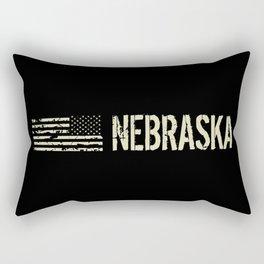 Black Flag: Nebraska Rectangular Pillow