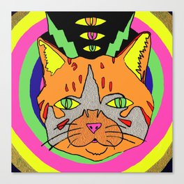 Hallucinogenic Kitty Canvas Print