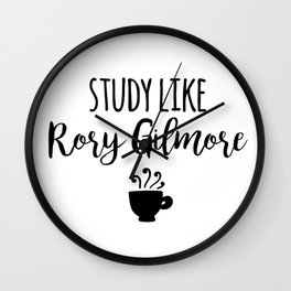 Gilmore Girls - Study like Rory Gilmore Wall Clock