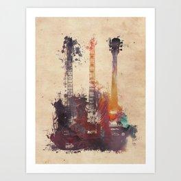 guitars 3 Art Print