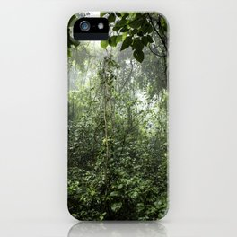 Dark Green Vines Hanging in the Misty Rainforest of Nicaragua at the Chocoyero-El Brujo Nature Reser iPhone Case