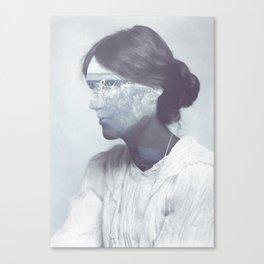 The Waves (Virginia Woolf's portrait) Canvas Print