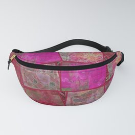 Ardor Collage (Pink & Red) Fanny Pack