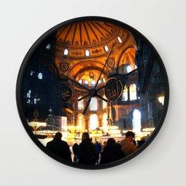The Apse Of Hagia Sofia Wall Clock