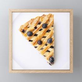Blueberry Pie Framed Mini Art Print