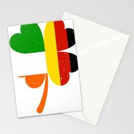 German Irish Flag Shamrock St Patricks Day Stationery Cards