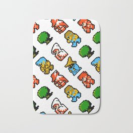 Final Fantasy (NES) pattern Bath Mat