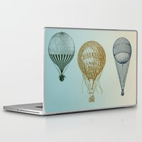 hot air balloons Laptop & iPad Skins featuring Colorful Hot Air Balloons by Zen and Chic