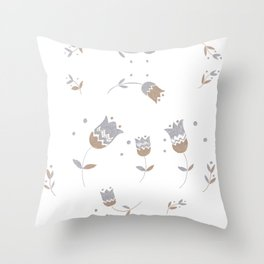 Fantasy Smile Flowers #1 #floral #drawing #decor #art #society6 Throw Pillow