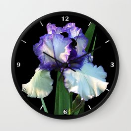 Iris 'Freedom Song' on black Wall Clock
