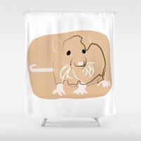 rat Shower Curtains featuring Rat by Jessica Slater Design & Illustration