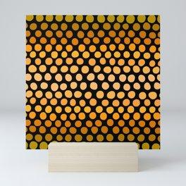 Honey Gold and Amber Ombre Dots Mini Art Print