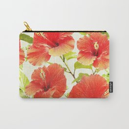 FLORAL PATTERN - HIBISCUS - Carry-All Pouch