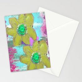 FLORAL MASHUP Stationery Cards